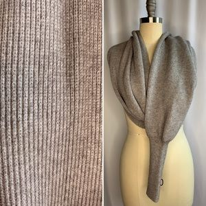 Zara Heather Grey Knit Scarf